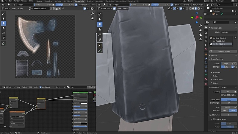 Texture Painting a Low Poly Ax pt. 3