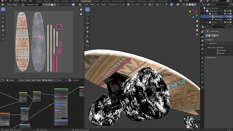 Finishing the Longboard with Procedural Textures