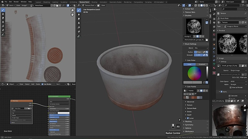Texture Painting the Pot