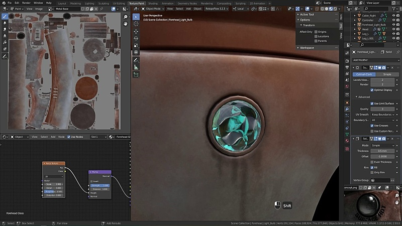 Texture Painting the Misc. Parts