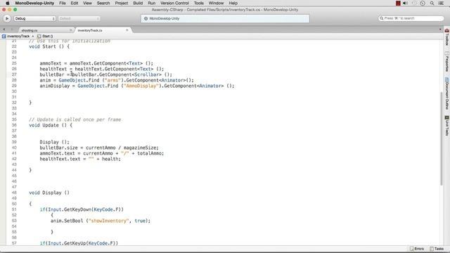 Creating UI Scripting for Shooting