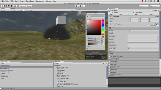 Adding Explosive Particles