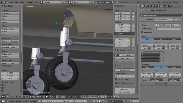 Rigging the Landing Gear and VTOL
