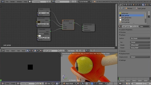 Rig Cleanup and Shader Adjustment