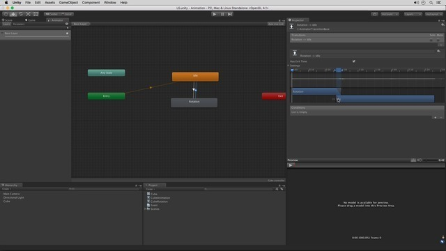 Adding Animation Transitions and Parameters