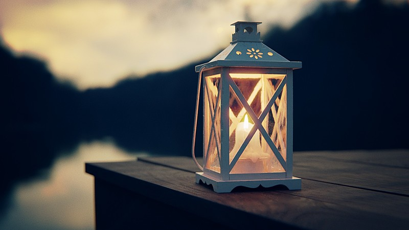 Modeling and Rendering an Autumn Lantern