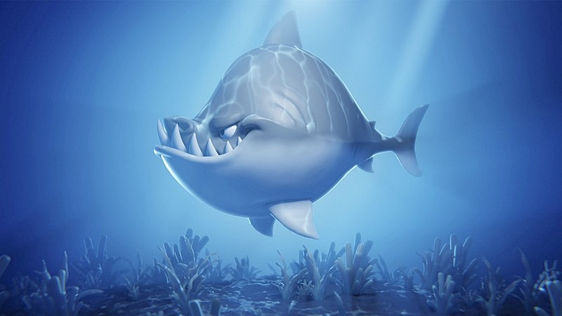 Shading, Lighting, and Rendering an Underwater Shark Scene with Eevee