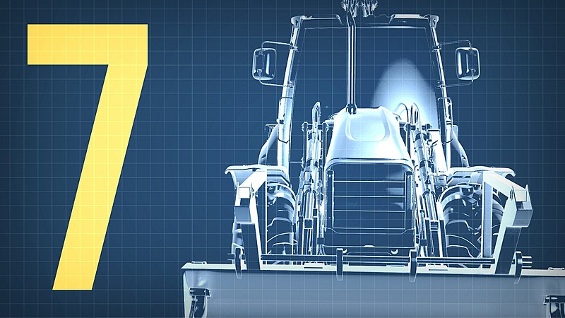 Modeling Heavy Equipment: Backhoe (Part 7) - Shading & Lighting