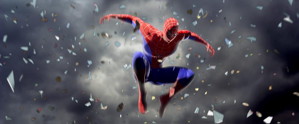 Spiderman on sky!