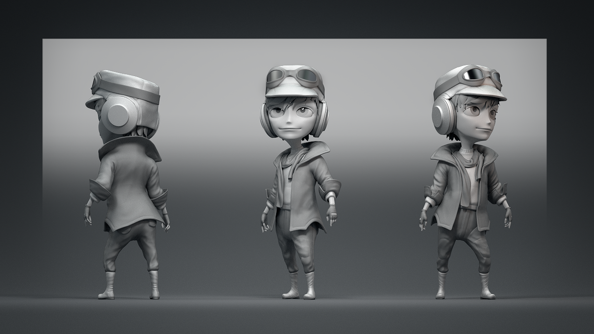Little Pilot Character Model