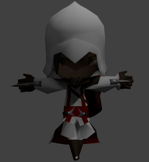 Low Poly Character Modeling Tutorial Blender : Low poly ezio from assassins creed cg cookie