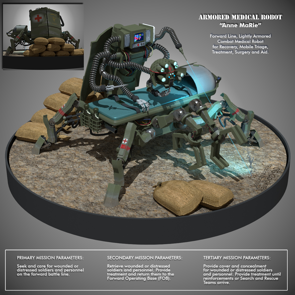 """""""Anne MaRie"""" - Armored Medic Robot"""