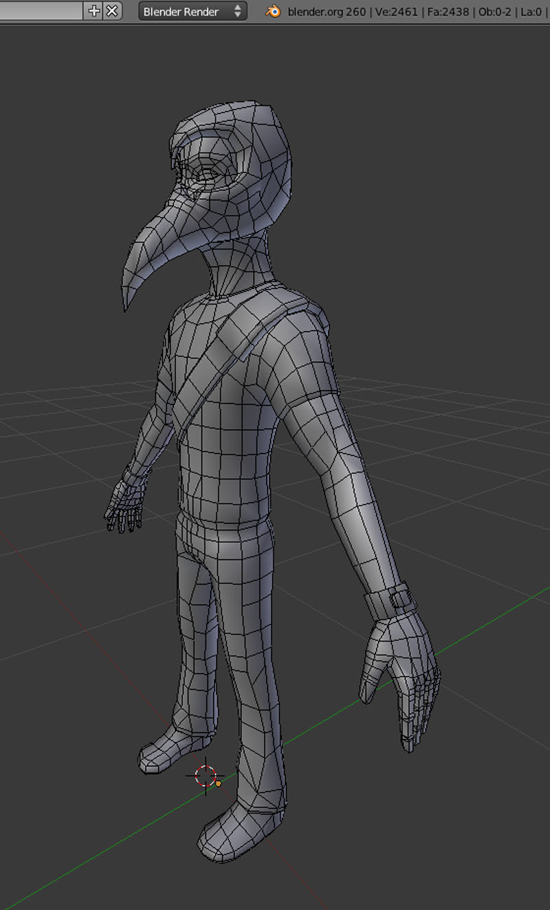 Retopology Model from Low Poly Character Series - CG Cookie
