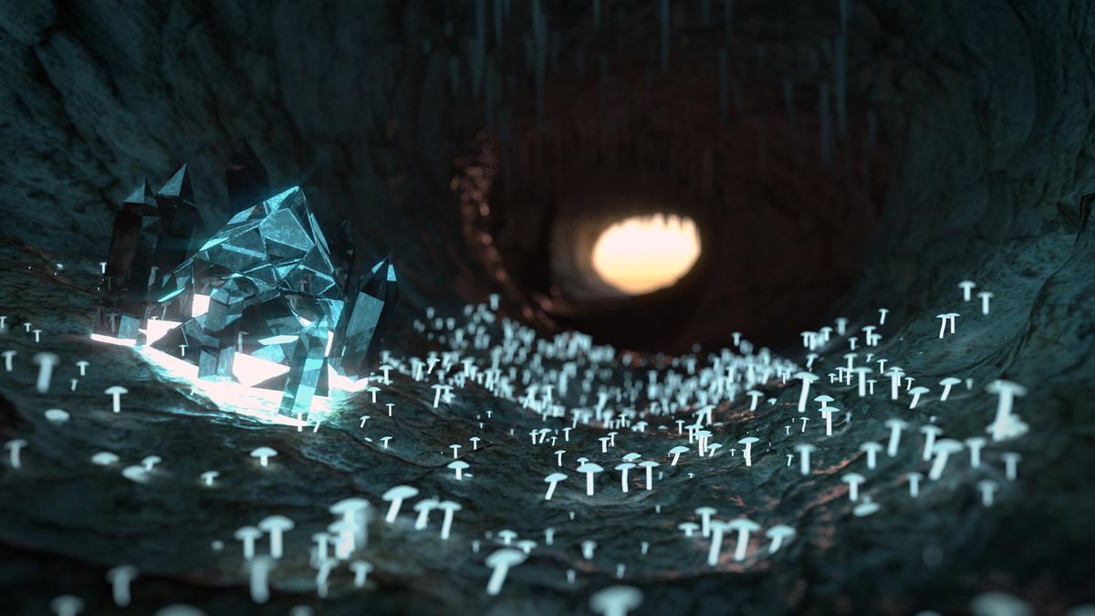 BlenderGuru Cave Tutorial Result
