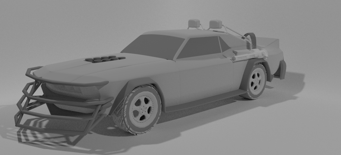 Modeling a Post Apocalyptic Vehicle-06