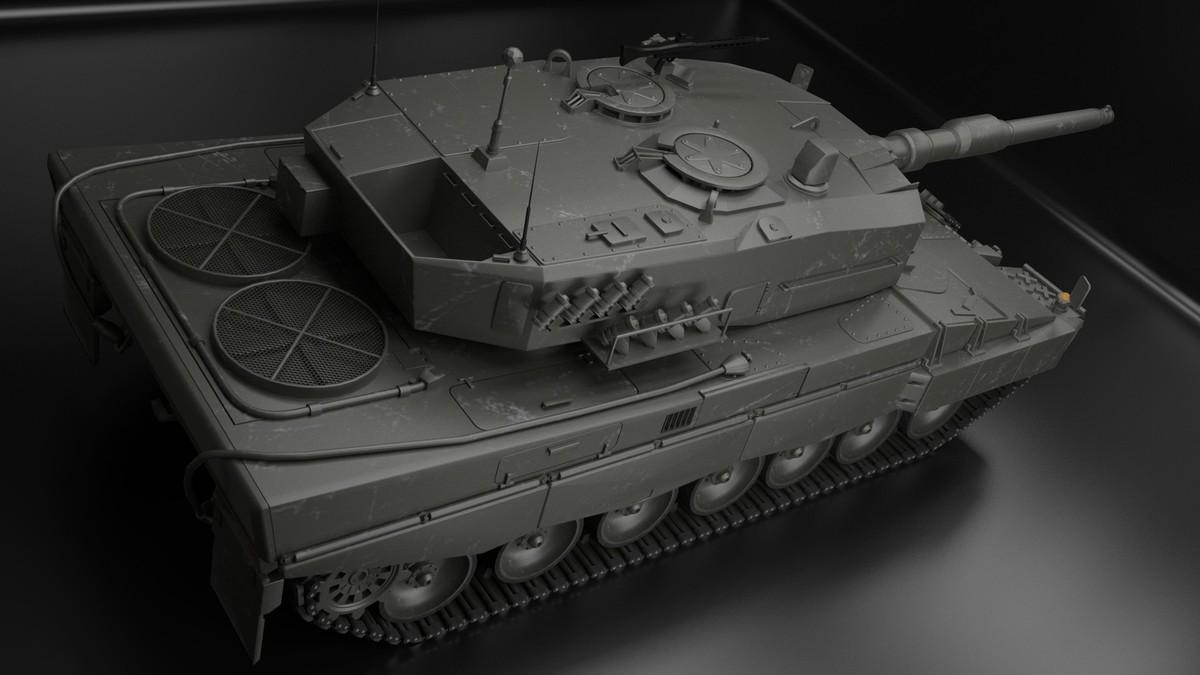 Leopard 2 Tank - Top view