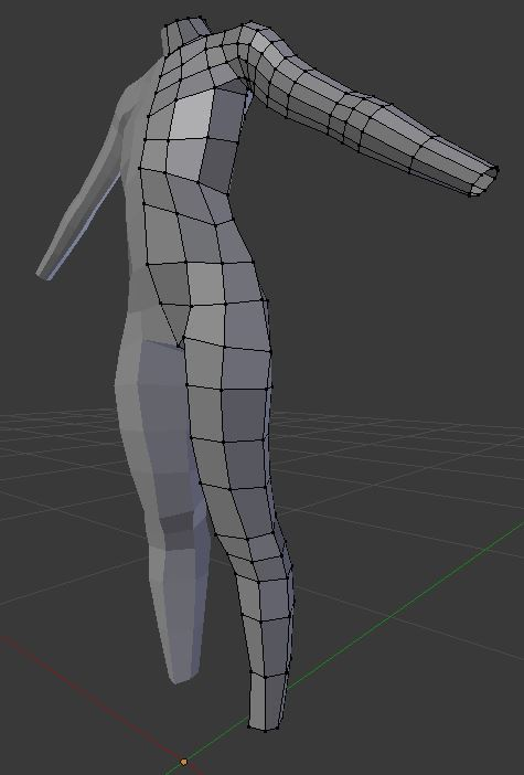Female Base Mesh - Torso, Arms, Legs