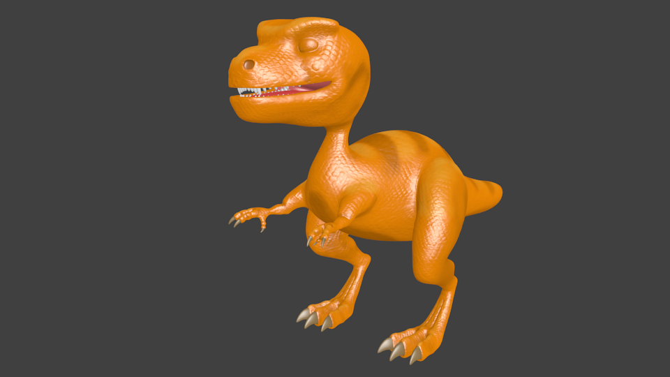 Dino Final color and bump map