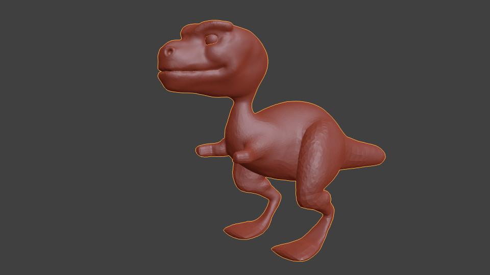 Dinosaur early sculpt