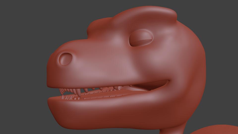 Dino teeth and tongue