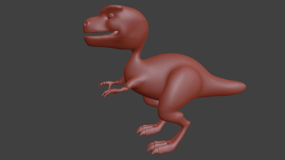 Dino retopology