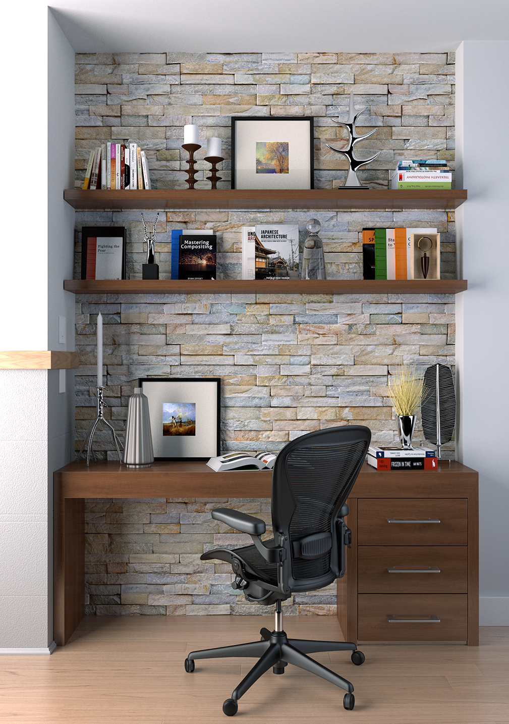 Office corner highlight