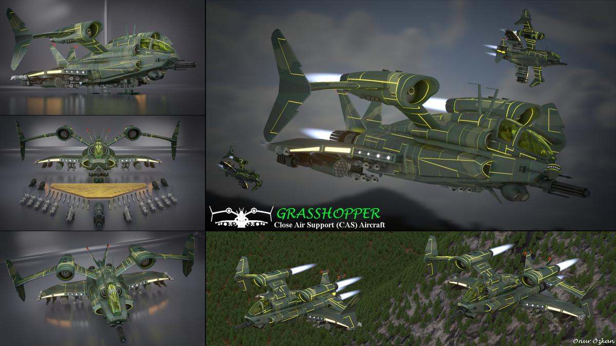 Grasshopper Close Air Support (CAS) Aircraft