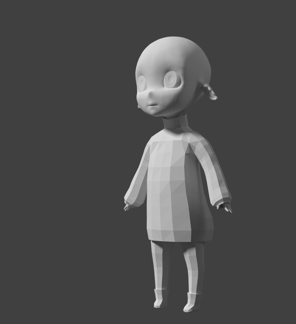 Boyfriend Sweater Chibi - head sculpt