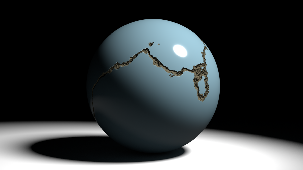 Procedural Crack in Sphere