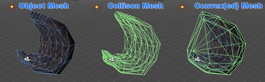 Collision Mesh comparison - CG Cookie