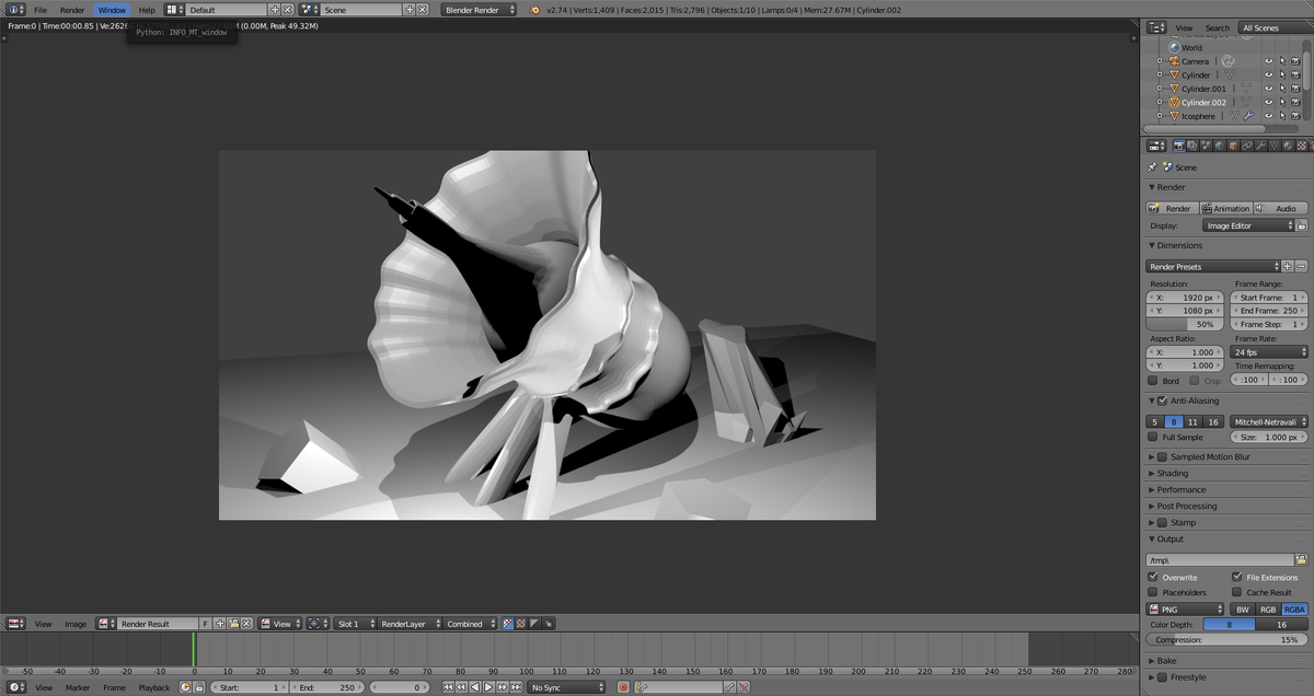 Getting Carried Away with Blender's Mesh Tools !