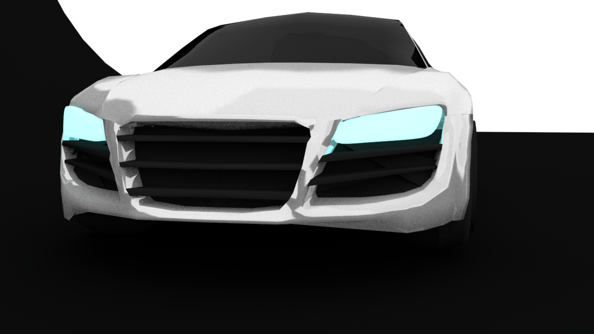 Audi R8 my first car in blender