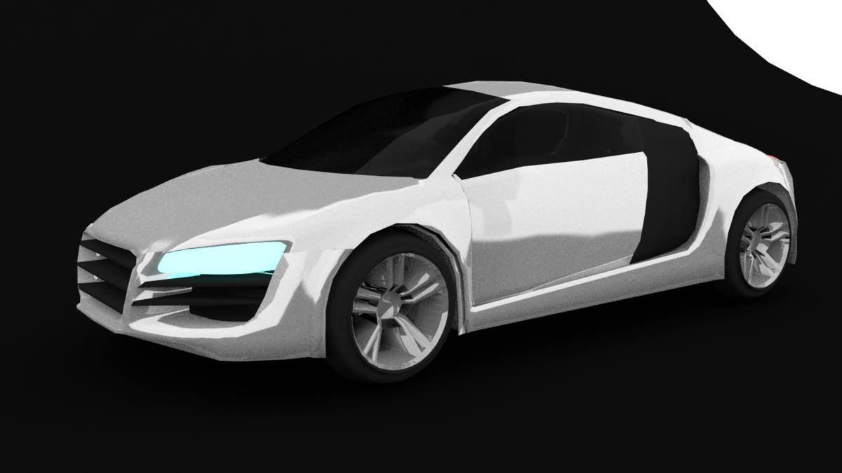 Audi R8 my first car in blender