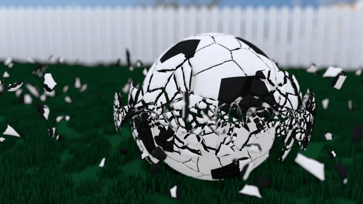 A Shattering Soccerball
