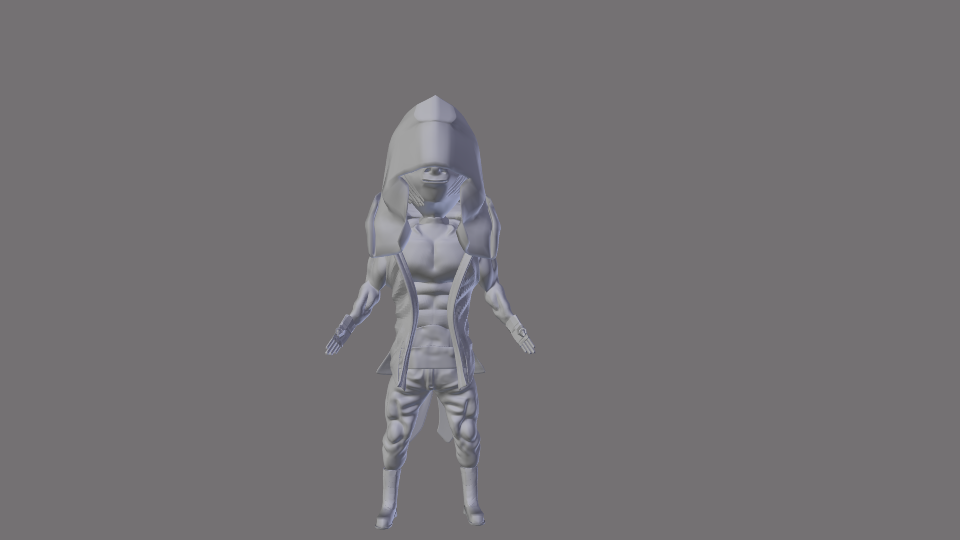 My version of the model before rigging.