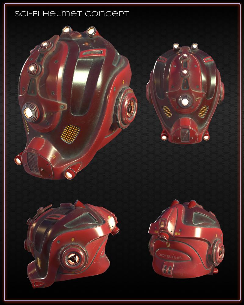 Sci-Fi Helmet: Battle Tested! Battle Worn!