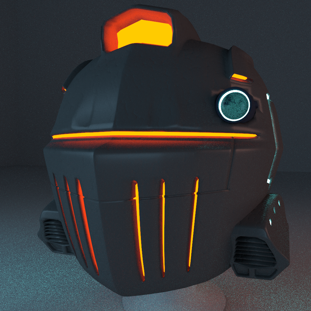 Sci-Fi Knight Helmet
