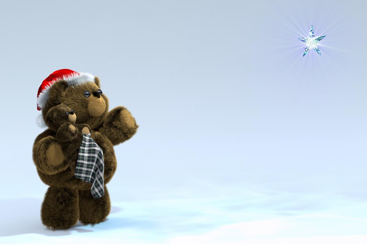 Santa Teddy & Baby