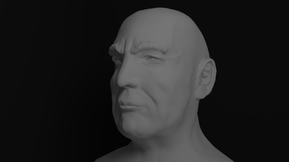 Sculpting test : Trump head w/o hair