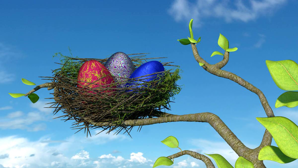 Easter Nest in Tree