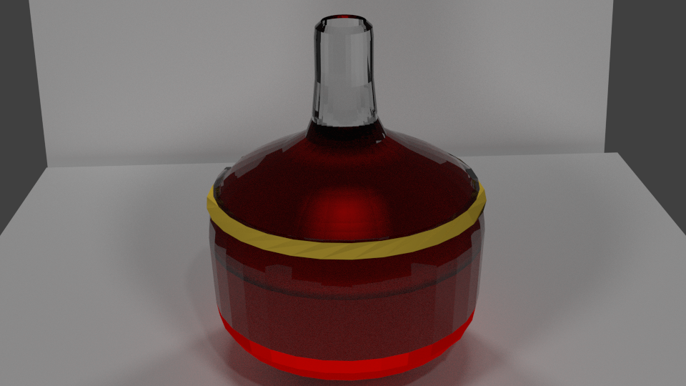 A photo realistic attempt at health potion