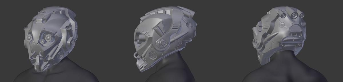 Scifi helmet - model
