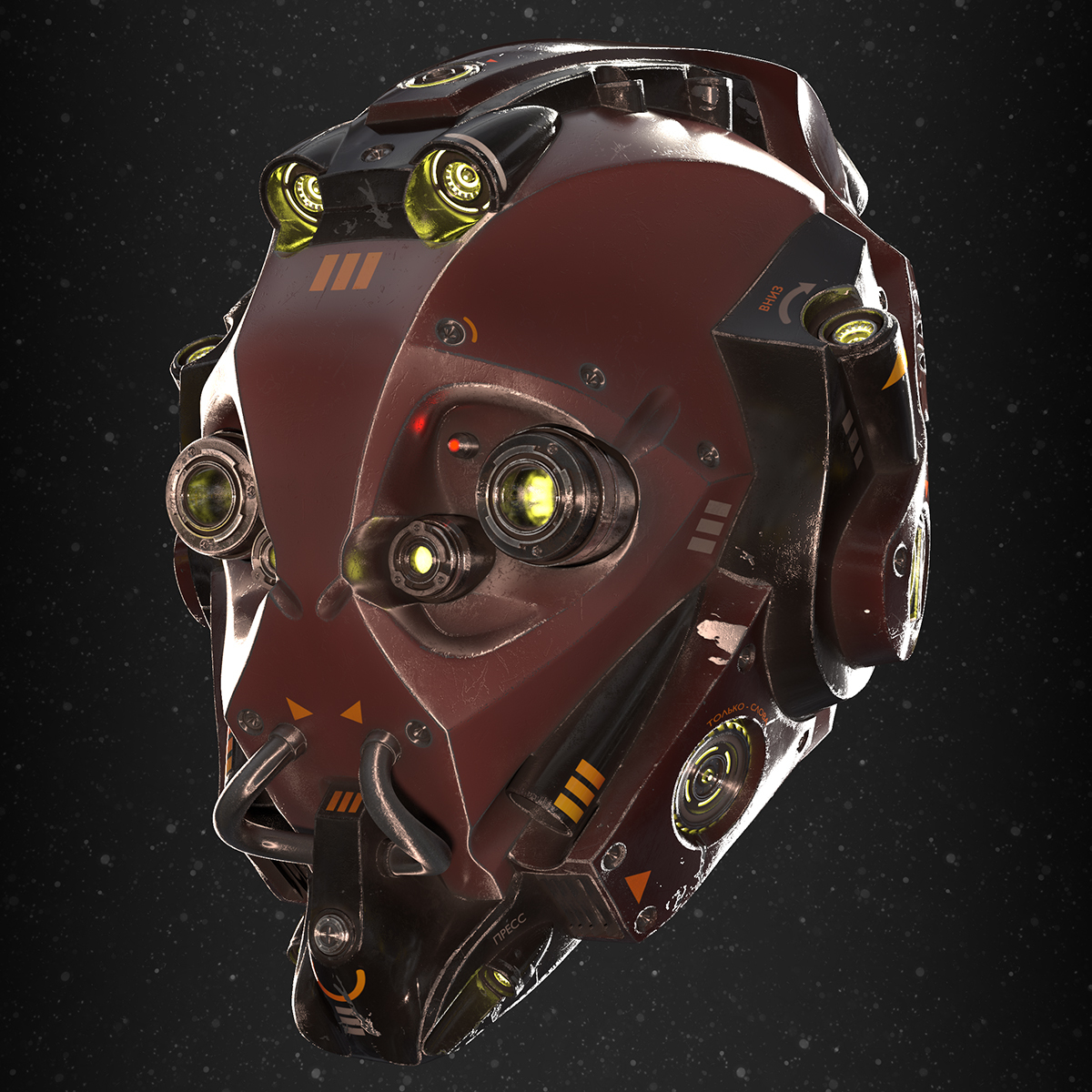Scifi helmet - shaded