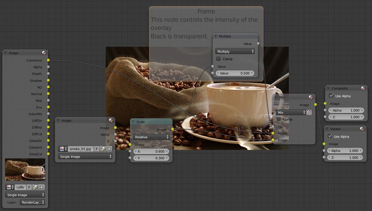 Coffee Scene black to transparent. SSL