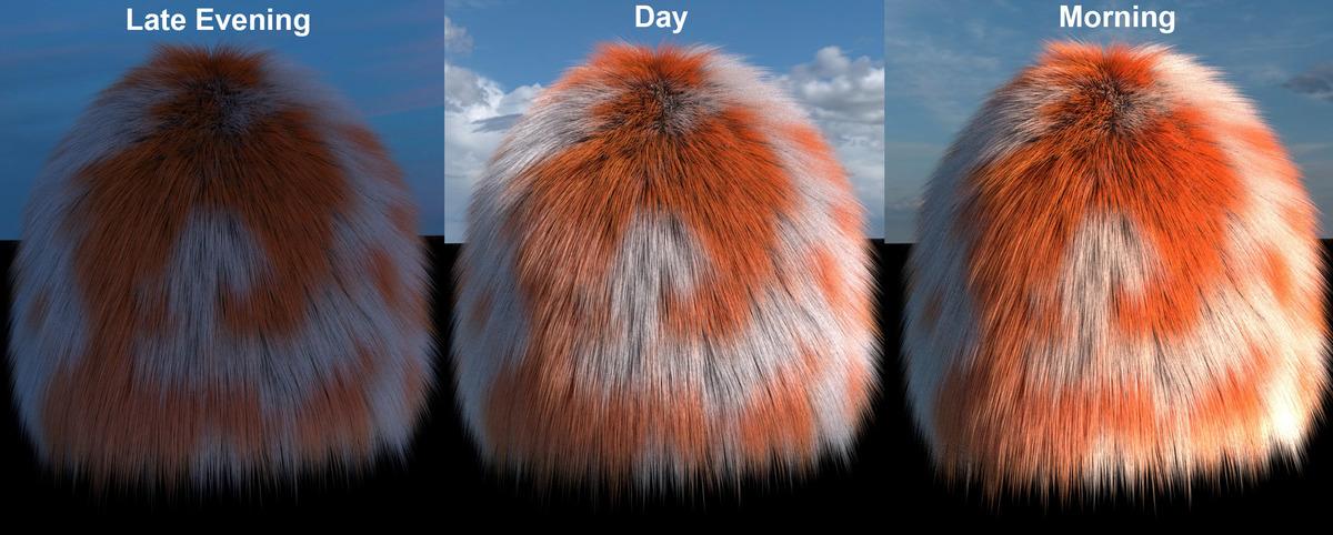 Testing fur with light