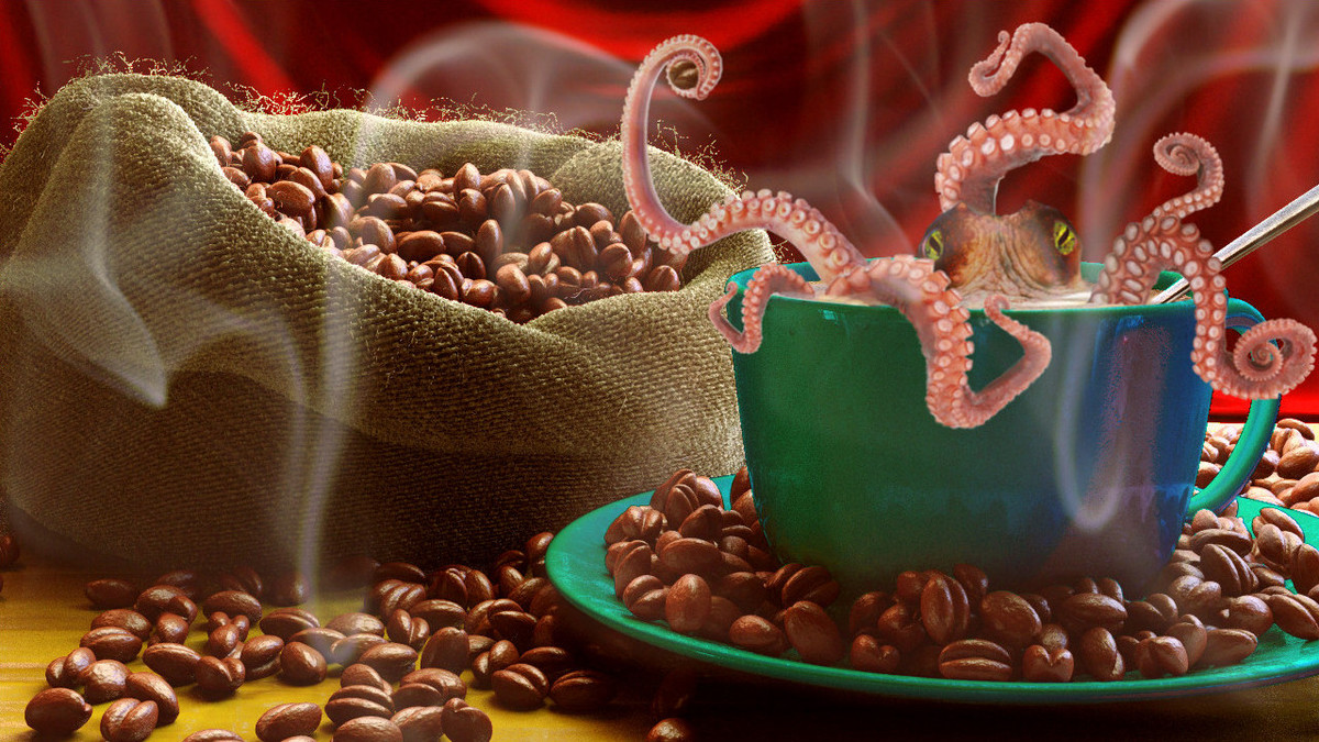 Compositing a Coffee Scene: Multiple id masked diffuse. WIP2c