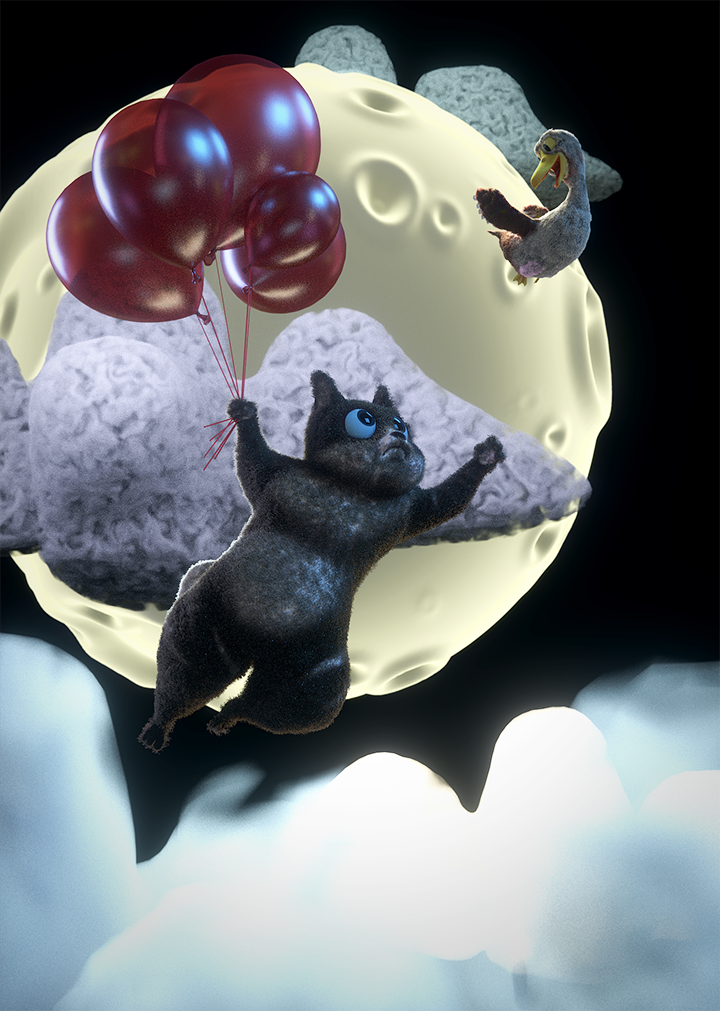 Submission to RenderStreet Flying Cat contest