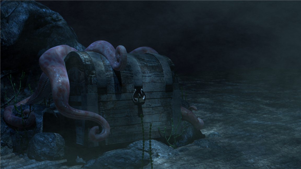 Treasure Chest & Octopus
