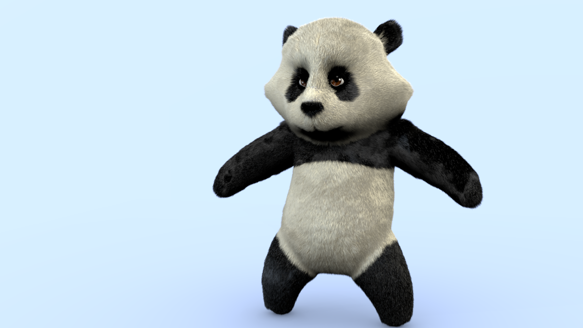 Qiaoqiaoban the Panda neutral pose