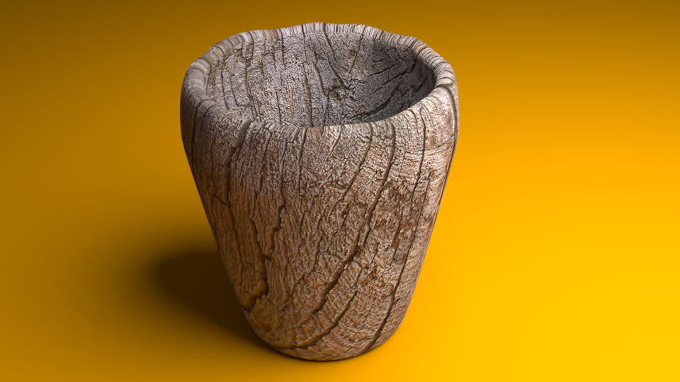 Cup With Wood Texture